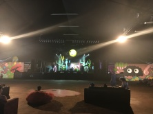 One of the funky stages. Waiting for the band. There was air conditioning in here!!!